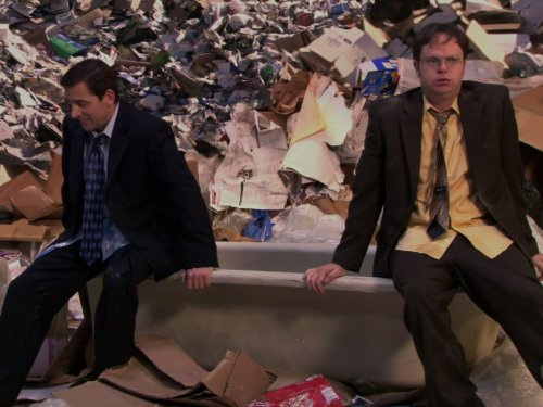 Michael Hides the leads in The Office